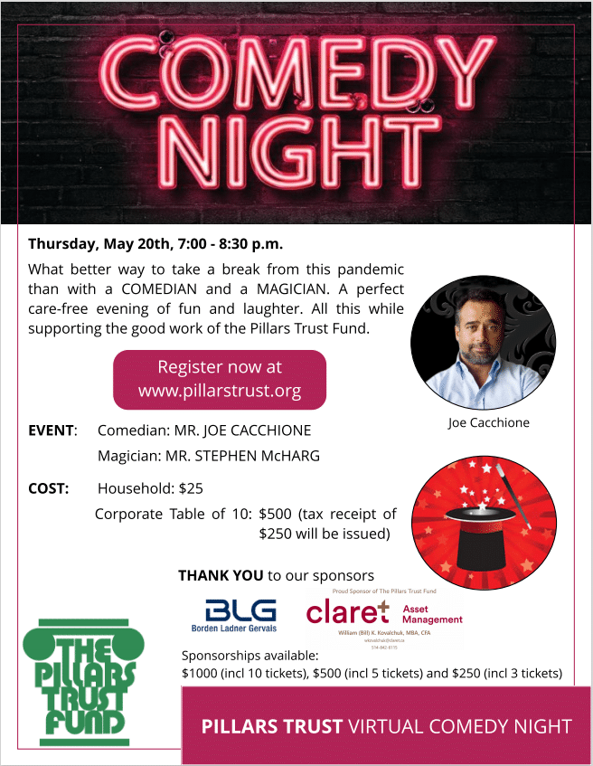Comedy Night and Donor Update